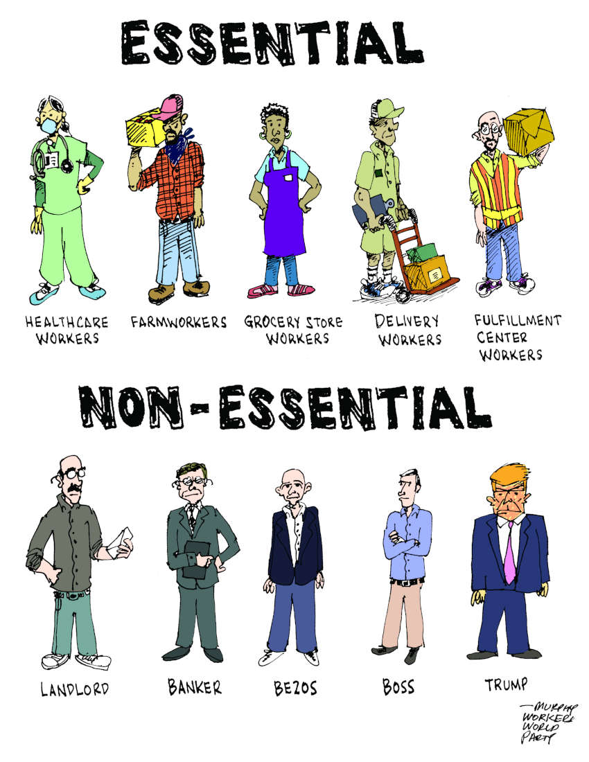 Essential vs non-essential – Workers World