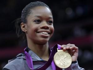Gymnast Gabby Douglas wins gold medal.