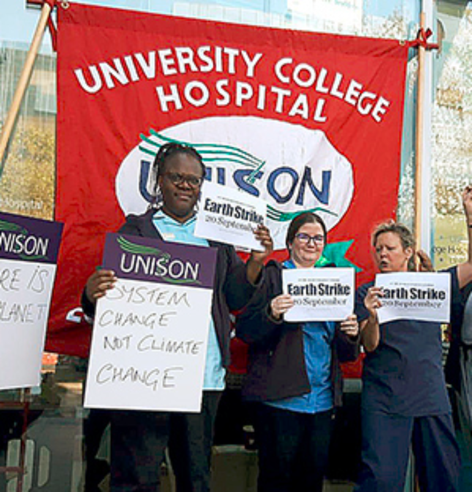 Hospital workers in London