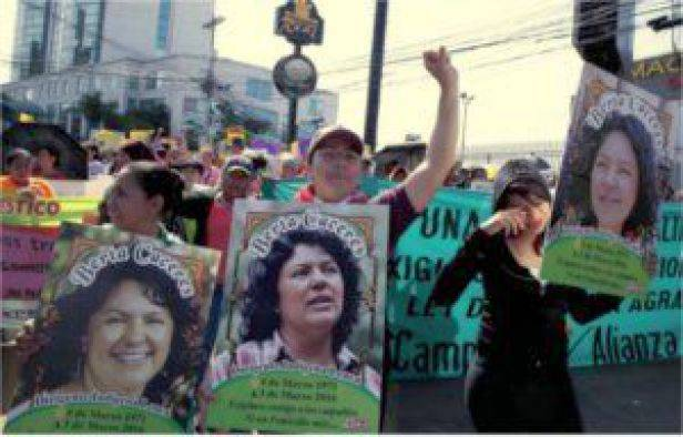 Honduran women march in Tegucigalpa in the spirit of Berta Cáceres on International Women's Day, March 8, 2016.