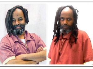 Mumia Abu-Jamal, before and after being sickened by hep C.