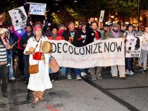 In Philadelphia, the cry is freedom for Indigenous peoples and descendants of enslaved ancestors, Oct. 12.