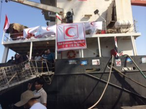 Iran's Red Crescent sends humanitarian aid to Yemen.
