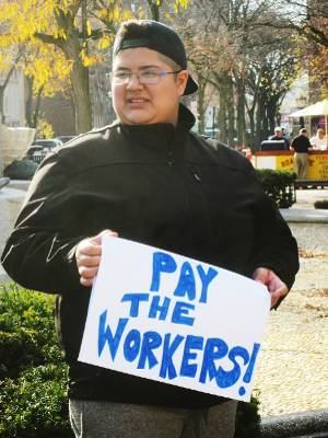 Andrea, fighting wage theft with the Workers' Center-CNY.