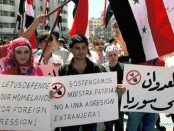 Demonstration in Damscus, Syria opposing U.S. aggression.