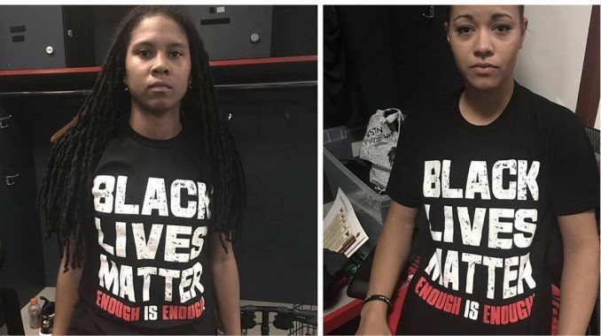 Minnesota Lynx, Washington Mystics and other players were fined by the league for wearing protest t-shirts.