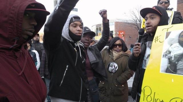 Aaron Winston's brother speaks at Trayvon Martin rally, Feb. 26.WW photo: Sharon Black