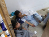 Doctors Without Borders staff members at the hospital in Kunduz destroyed by a U.S. military bombardment.Photo: Doctors Without Borders