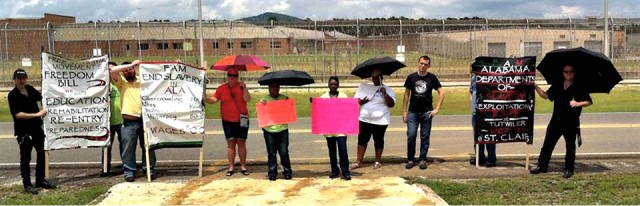 Free Alabama Movement march at Tutwiler Women's Prison, August 2014.Photo: Free Alabama Movement