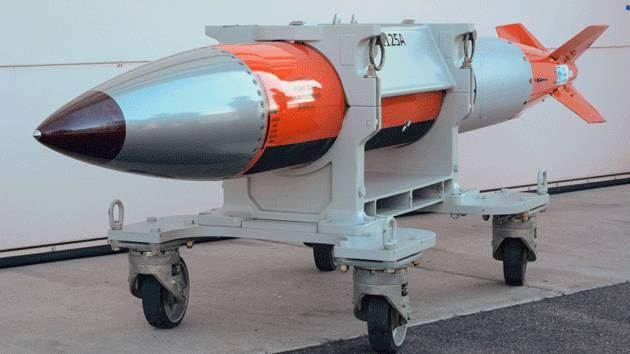 A flight test body for a B61-12 nuclear weapon.