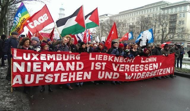 Demonstration commemorating the murdered revolutionaries, Berlin, January 10. Photo: Po-Ming Cheung