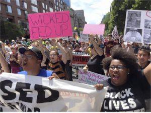 Boston marchers, June 13.WW photo: Stevan Kirschbaum