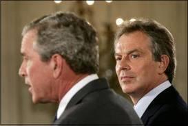 George Bush and Tony Blair, war criminals.