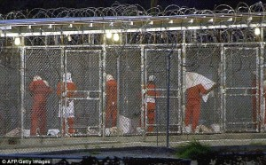 Camp X-Ray in Guantanamo Bay, Cuba