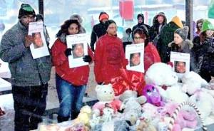 Vigil for Tamir Rice, Feb. 22.Photo: Latonya Goldsby