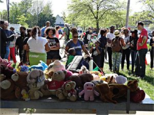 Rally May 23 outside the Cudell Recreation Center, where 12-yearold Tamir Rice was killed by a cop six months ago.WW photo: Susan Schnur