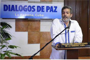 Marco León Calarcá, a spokesperson for the Revolutionary Armed Forces of Colombia (FARC).
