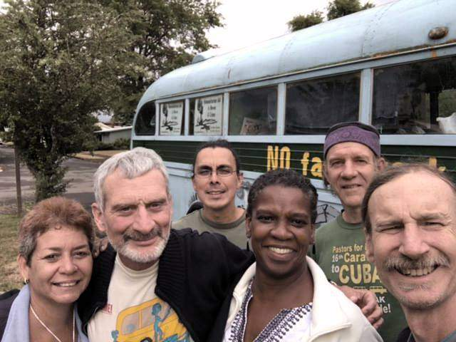 West Coast route of Friendshipment Caravan prepares to leave Portland, Ore.