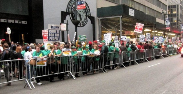 CUNY workers and supporters, March 10.