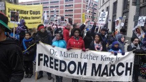 MLK Day march in Detroit on Jan. 19.WW photo: Abayomi Azikiwe
