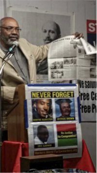 Abayomi Azikiwe, Detroit, Feb 21.WW photo: Kris Hamel