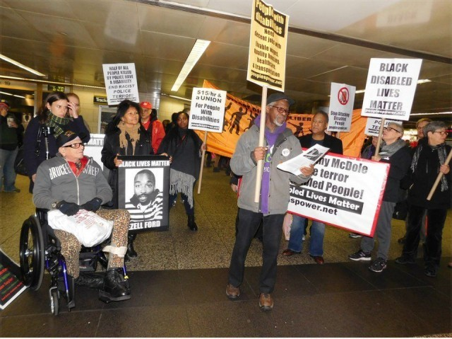 Penn Station protest marks International Day for Persons with Disabilities, Dec. 3.