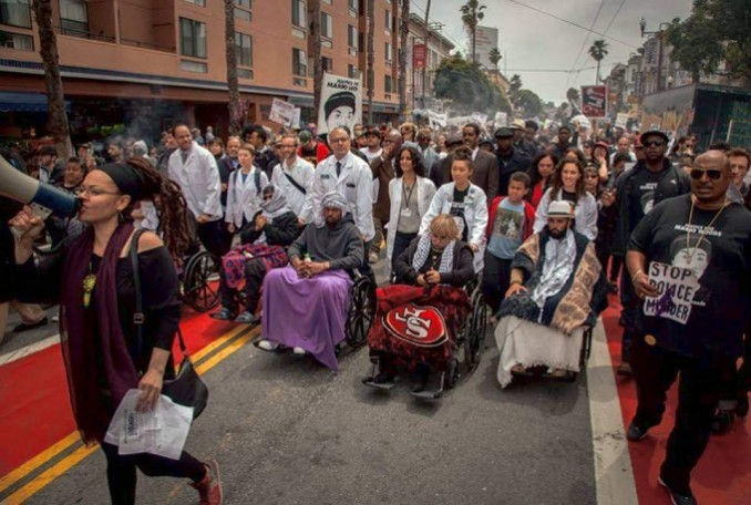 UCSF doctors and medical personnel in support of the Frisco 5 hunger strikers in May.