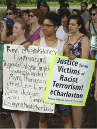 Speak out against Charleston massacre, Long Meadow Park, East Durham, N.C., June 20. WW photo: Bryan Pfeifer