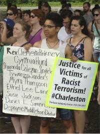 Speak out against Charleston massacre, Long Meadow Park, East Durham, N.C., June 20. WW photo: Bryan Pfeifer