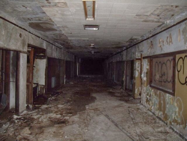 Abandoned high school in Flint, Mich.