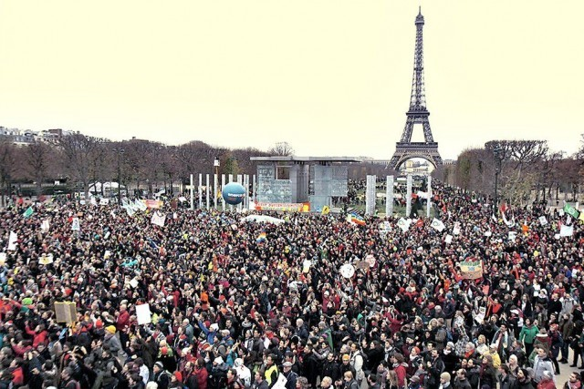 Mass rally in Paris.