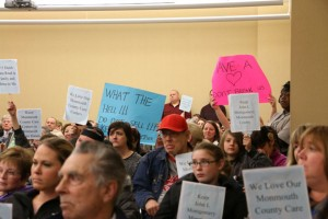 March 24 meeting was packed with defenders of the nursing facilities.