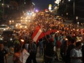 Protest in Tegucigalpa, Honduras, on May 29.