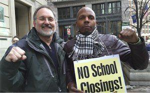 Steve Kirschbaum with journalist Lamont Lilly, right.Photo: Ken Yarborough