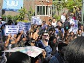 Students back faculty's struggle. Brooklyn, Sept.14.