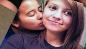 Teen lovers Mary Chapa, left, and Mollie Olgin.