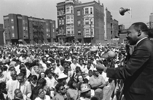 Dr. Martin Luther King Jr. in Chicago, 1966.