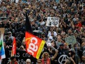 A massive demonstration in Nantes, France, against the new French labor law, on Sept. 15.