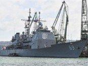 NATO warships in the Aegean Sea.