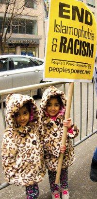 New York anti-Islamophobia protest.WW photo: G. Dunkel