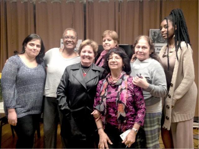 Suzanne Adely, Monica Moorehead, Alicia Campos, Maritzel Gonzalez, Berta Joubert-Ceci, Rosa Maria de la Torre and Kira Lynae.