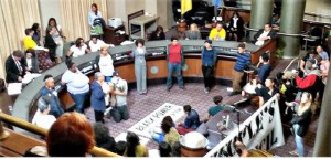 Oakland City Council takeover, May 5.WW photo: Terri Kay