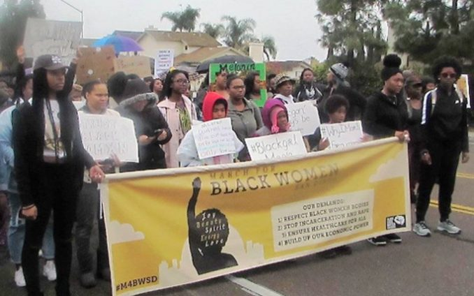 San Diego march says 'Respect and trust Black Womxn