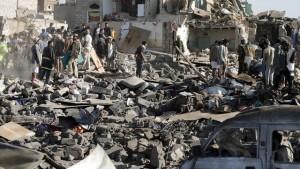 Saudi Arabian bombs kill Yemeni civilians.