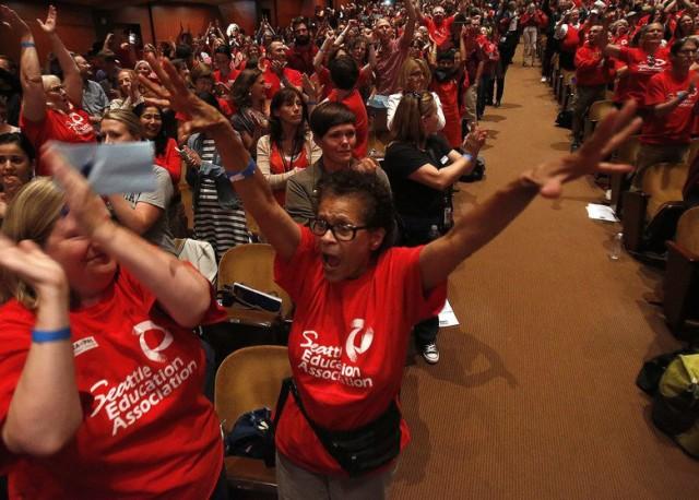 Seattle teachers vote to strike.