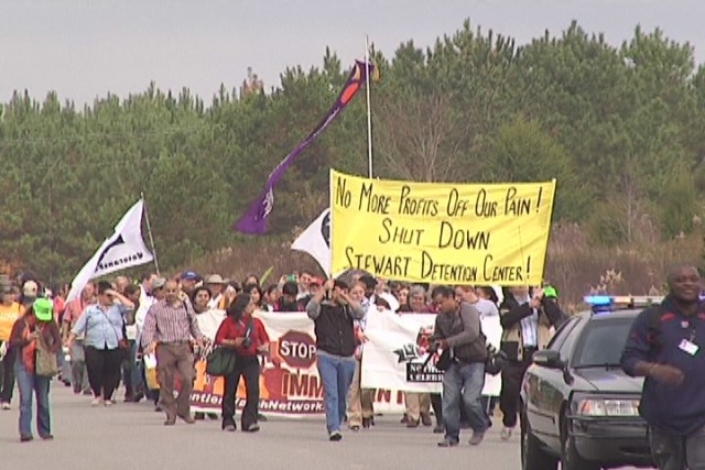November 2014 march to detention center in Lumpkin, Ga.