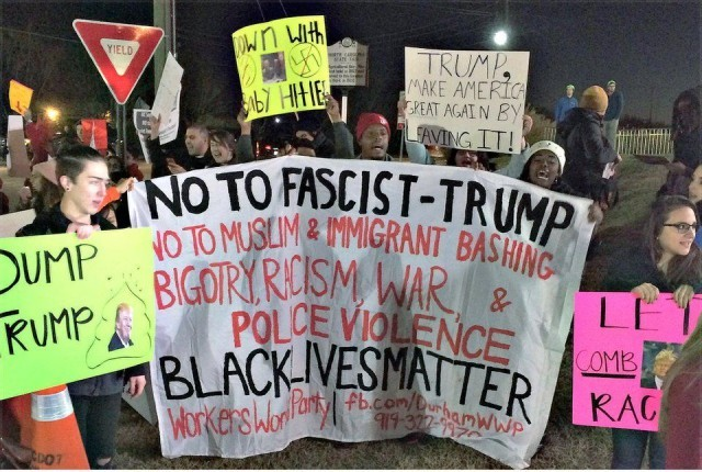 Protesters trump Trump, Dec. 4.WW photo: Ben Carroll