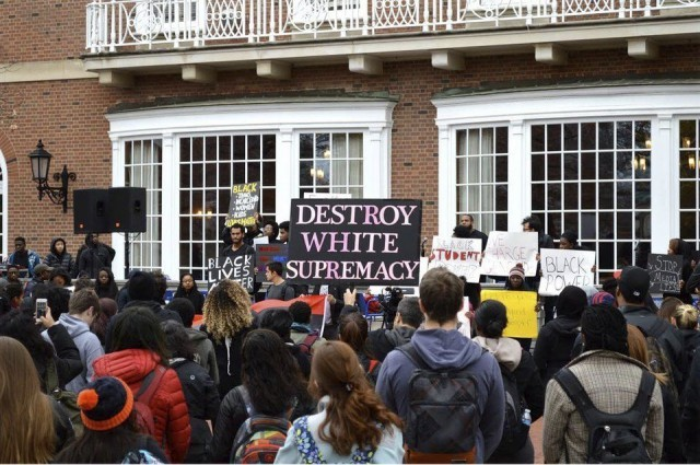 Anti-racist rally at University of Illinois -- Urbana Champaign.