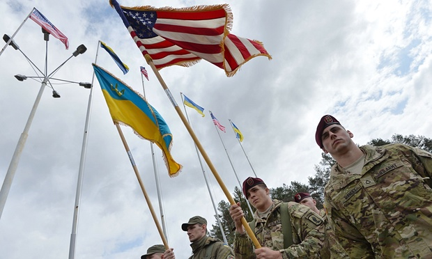 "U.S. paratroopers arriving for ""joint operations"" with Ukraine National Guard units"