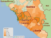 2014 Ebola outbreak in West Africa - outbreak distribution map.